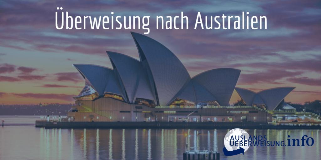 Überweisung nach Australien